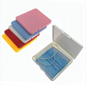 Portable Mask Storage Box Dustproof Face Shield Moisture-Proof Container Disposable Face Mouth Cover Holder Mask Storage Case LJJP324