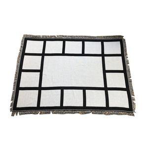 Manta de los paneles del corazón de las mantas de los paneles para las mantas de sublimación mantas cuadradas para sublimación Theramal Transfer Fiston Rug A02