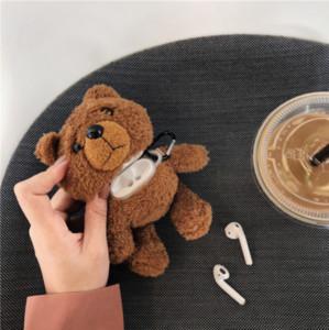 Мультфильм плюшевый мишка протектор для Airpods 1/2 3 Pro Плюшевый медведь Protector Беспроводная Bluetooth-гарнитура Коробка для хранения