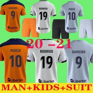 traje de hombre adulto + KIDS + 2021 # 10 # 19 PAREJO RODRIGO blanca casera del fútbol de los jerseys 20 21 Los hombres de camisetas de fútbol de distancia negro # 22 del club S.MINA equipo de terceros