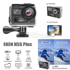 Cgjxs는 Eken H5S 플러스 액션 스포츠 카메라 2 터치 스크린 기본 4K (30) EIS (170) 광각 금속 프레임 와이파이 30m 방수 원격 제어 12MP