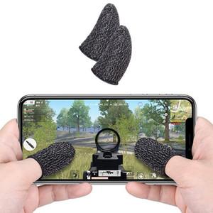 Transpirable móvil del regulador del juego de la pantalla táctil pulgares dedo de la manga de disparo por contacto de los guantes PUBG del teléfono móvil del juego del juego