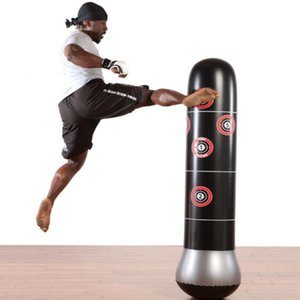160 centímetros de Boxe Punching Bag infláveis gratuitos-Stand Pressão Tumbler Muay Thai Training Relief Bounce Back Saco de Areia Com bomba de ar