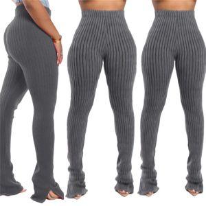Ultra pantalones elástico Legging Mujeres Casual ropa de diseño sólido color longitud de punto Suelo flacos de las mujeres 2020