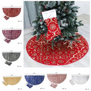 Рождественская елка юбки украшения с елки чулок для Merry Christmas Party Xmas Tree Skirt Орнамент Supplies