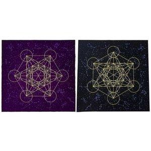 Crystal tarjeta mantel Ootdty Astrología Altar Metatrone Card Game Cub terciopelo cuadrícula adivinación Junta Tarot Tarot Mat Cloth bbyvvu sweet07