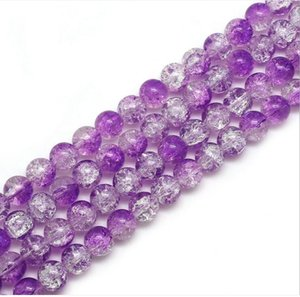 8mm glass loose beads round burst Floral bead style approx 50pcs per string model no. NE1153