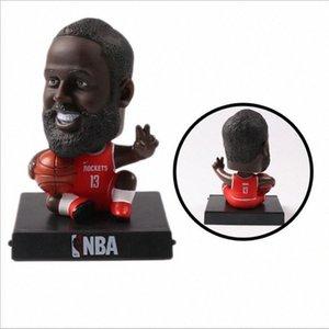 S versiyonu basketbol yıldızı el yapımı bebek başını oyuncak araba aksesuarları 8p75 # sallamak