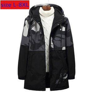 Arrvial la manera del invierno de los hombres grandes estupendos fino largo Aerosol-consolidado Guata informal con capucha abrigos Plsu Tamaño XL2XL3XL4XL5XL6XL7XL8XL