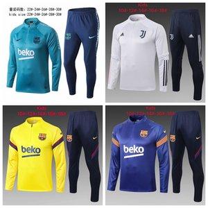 20 21 enfants Barcelone survêtements de football de football vestes enfant garçon Survetement Survêtement veste maillot de pied de jogging costumes # 54669