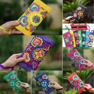 Cfyfc 2020 Stickerei Nationalität Leinwand Nationalität Sommer neue Yunnan ethnischen Stil Mitte der Länge Leinwand neutral Geldbörse Blume gestickt