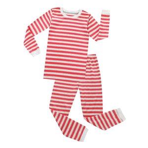 Новый Арбуз и White Stripes пижама Дети Pajama наборы Детские пижамы Детские одежды Рождество Полосатый Pijamas