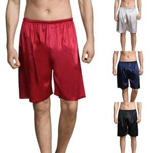 Dihope Summer Sleep Bottoms Men Sleepwears Shorts Comfy Silk Satin Pajama Homewear Shorts Loungewear Soft Home Wear Fashion