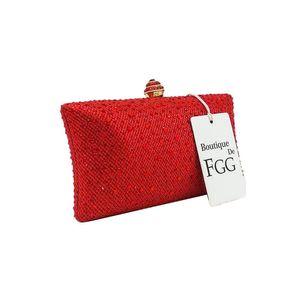 Дизайнер-Ослепительный Красный кристалл рубина вечера женщин сцепления коробки мешка руки металла Bridal Стразы на ремне сумки свадебные Клатчи Кошелек