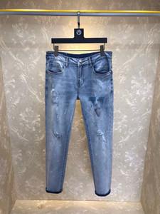 Mens Fashion Designer elasticit pantalon broderie exquis Cowboy célèbre marque Zipper Slim Designer Jeans Skinny Vente Hot Hip Hop Denim