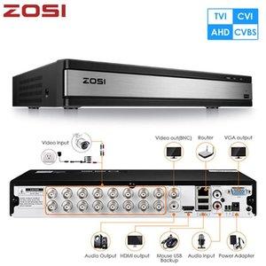 ZOSI 720P 1080P 16-канальный CVBS AHD CVI TVI 4-в-1 Гибридный CCTV DVR рекордер Boarder HDD BNC Подключение к удаленному Просмотр