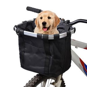 Telaio Lixada bici sacchetto della bicicletta Cestino della bicicletta zaino lega di alluminio Carrier Bike sacchetto anteriore Pet Carrier Pouch Outdoor Zaino