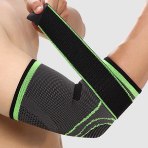 Dirsek Sıkıştırma Dirsek Koruyucu Tampon Gym Spor Elastik Basketbol Kol Kol Brace Sweat emdirin