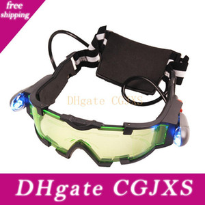Super Hot Style Fashon Cool Green Lens elastico regolabile Banda Night Vision Goggles Occhiali