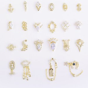 New Micro-inlaid Shiny Zircon Alloy Rhinestones DIY Charm Nail Decoration Accessories A Variety of Styles Available