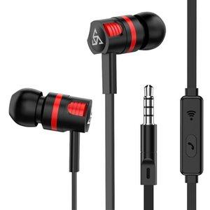Super Earphones 3 0,5 milímetros Em ouvido com microfone Stereo Earbuds fone de ouvido para Samsung OnePlus Vs Am116 Earphones