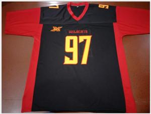 Donna-Uomo della gioventù XFL LA Wildcats # 12 Luis Perez # 97 LANE Jersey formato s-5XL o personalizzato qualsiasi nome o numero di maglia