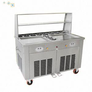 Один горшка жареного мороженое машина 220 коммерческого Fried мороженого ролл машины йогурт мороженого лоток машин 5ERy #