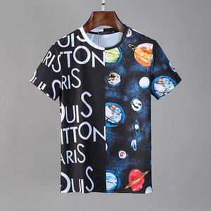 2019 sports d'été nouvelle mode pour hommes T-shirt O-cou à manches courtes conception Hommes brodé coton T-Shirt Men # 010