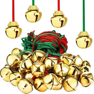 Navidad de los cascabeles árbol de navidad Ornamentos colgantes con colgantes de Navidad de los cascabeles de metal ahuecado del árbol de Navidad adornos decorativos GWF1997