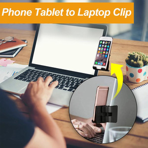 Mobile Phone Stand For Laptop Monitor Phone Tablet To Laptop Clip Cellphone Mount Phone Fixed Clip Cellphone Holder Stand