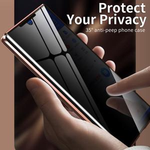 360 Manyetik Gizlilik Telefon Kılıfı için Samsung Galaxy Not 20 Ultra Karşıtı gözetleme Not 20 için Kılıf Darbeye Karşıtı casus Metal Bumper Ultra