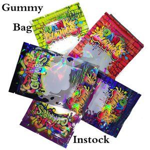 Dank Çanta Gıda Torbası Koku geçirmez Yukarı Pounch Yeniden kullanılabilir Zip-Lock Oem Logo Ambalaj Torbaları Standı Packaging Mylar Yenilebilir torba Şeker Packaging Sakızlı Çanta