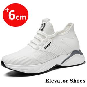 Aufzug Schuhe Höhe erhöhen Schuhe für Herren-Höhen-Zunahme-Einlegesohle 6cm Aufstockung Turnschuhe Erhöhung