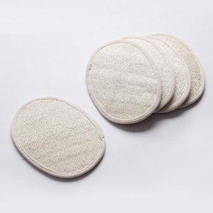 Oval luffa naturale faccia la pelle da bagno pad doccia scrubber luffa rimuovere il pad morti 13 * 18cm GWF935