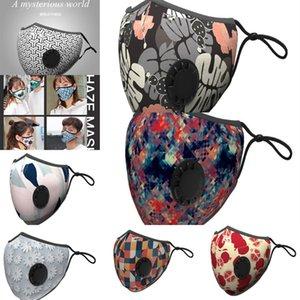 Respirando Aspirador de válvula várias cores face mutável filtro Máscara Pads Dustproof pano de protecção com pacote de varejo Dhc803