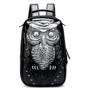 backpack Ms new style Animal embossing Genuine Leather rivet Travel bag fashion trend Europe and America Multifunctional sports bag wholesal