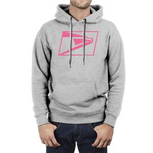 Fashion Men United States Postal Service USPS Pink Fleece Hoodies,Sweatshirt Casual Funny Hip hop Hoodies wuite postage stamps flag 3D