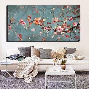Dipinti su tela Plum Blossom per soggiorno parete classica Fiori Wall Art Immagini Large Size Poster e stampe Home Decor