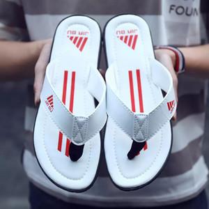 New Luxury high-end brand Summer Bathroom Slippers men sandals Men Non-slip Indoor Home Slipper Outdoor Letter Flip Flops
