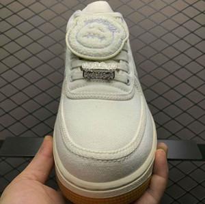 New Travis Scott Astroworld Black 1 scarpe basse bianche multi colore donna mens scarpa sportiva scarpe da scarpe chaussures sneakres