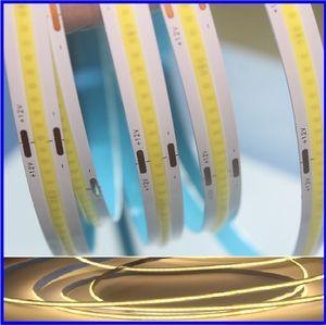 2 anni di garanzia luce di striscia Solid Alta COB LED luminosità 12V flessibile, R / G / B / WW / NW / CW bianco caldo della striscia del LED 378LEDS