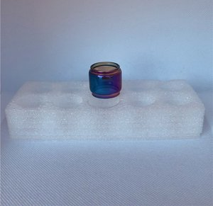 Arco-íris Fatbow Tubo de vidro convexo para advken ohm ega cp tf manta mtl tanque coruja (não kit) starter escuro malha rta tank substituição