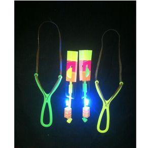 100pcs * Elastico catapulta LED Volante Gyro dell'elicottero frecce che pilotano ombrello bambini giocattoli WY1596