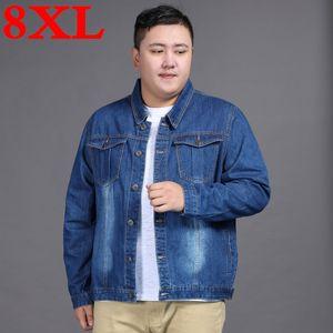 2020 new plus size 8XL 7XL 6XL 5XL 4XL 3XL spring new classic denim brand clothing casual men jean jacket coat male