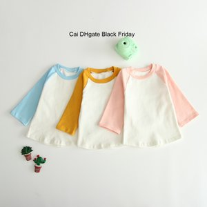 New Baby Boys Girls T-Shirts Spring Autumn Kids Clothes Children Cotton Long Sleeve O-neck Bottoming T Shirt Infant Toddler Tops