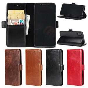Étuis en cuir de portefeuille pour iPhone 6 6S 7 8 plus xs max xr x housse TPU couverture à l'intérieur cas de protection