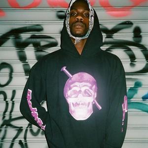 18ss Screwhead Purple Skull Hooded Sweatshirt Pop Men Women Printed Fashion Casual Couple Pullover Street Skateboard Hoodies HFLSWY253