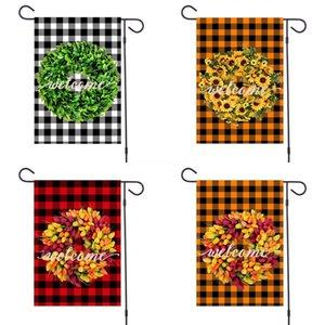 Garden Flag Jute RufflesFlags Monogrammable Blank Banner Hanging Flag Garden Decorations Latest#730