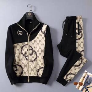 GGG nueva mañana de los hombres de moda traje de correr gg diseñador de impresión nuevos chaqueta pantalón envío libre de la moda traje de dos piezas de alta calidad 2020