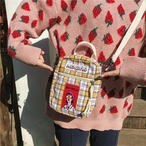 New Harajuku Fashion Handbag Plaid Print Women Shoulder Bags Ladies Crossbody High Quality Students Casual Wild Small Bag Flap
